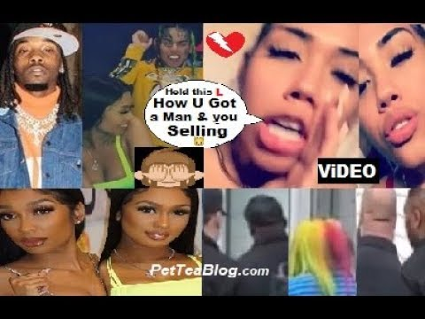 Offset Sidechick in LA with 6ix9ine No Security, dancing! BABY MAMA Goes Off 😤💔 Video