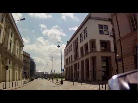 Down-town of Warsaw, Poland - Contour GPS test ride