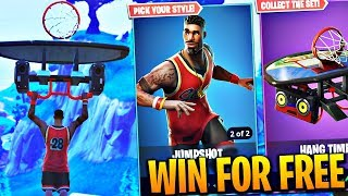 NEW 'Basketball Player' Skin FREE + 'Hang Time' Glider Gameplay in Fortnite! (FREE SKINS UPDATE)