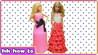 Play Doh Princess Dresses | Play Doh Barbie Dress by HooplaKidz How To