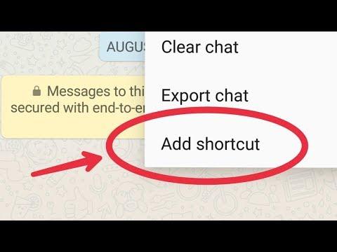 WhatsApp Add Shortcut User Chat