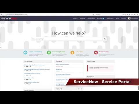Portail de Services - ServiceNow Istanbul