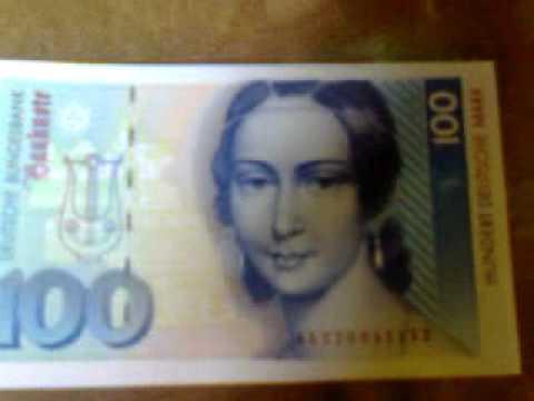 Deutsche Mark Scheine und Münzen
