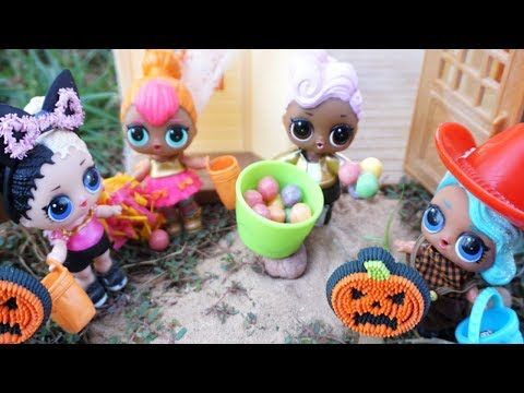 Thumbnail: LOL SURPRISE DOLLS Halloween Experience Trick Or Treating Barbie Lets Them Go Trick Or Treating!