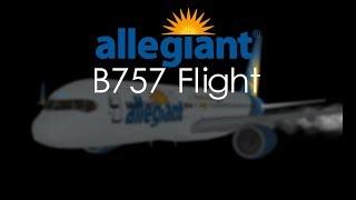ROBLOX - Allegiant Boeing 757 First Flight/Halloween Flight
