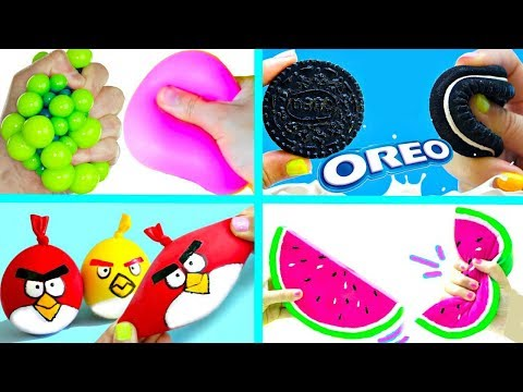 5 DIY SLIMES & SQUISHIES   Stress Relievers (Slime, Squishy, Stress Balls)