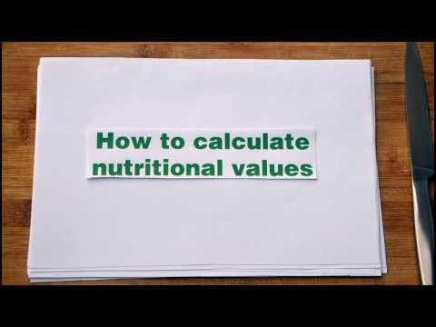 How To: Calculate Nutritional Values Of Your Recipes