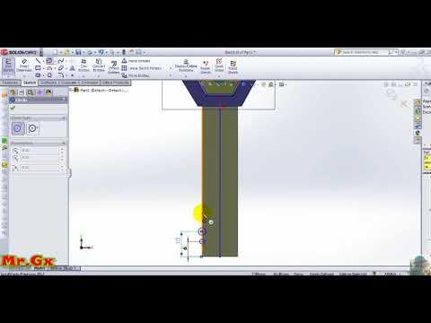 [Thiết Kế Khóa Xe Máy Yamaha Solidworks2012] Phần 5 Điều Chỉnh Kích Thước Răng Khóa  Smart Dimension