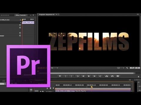 Adobe Premiere Pro - #19: Text Masking