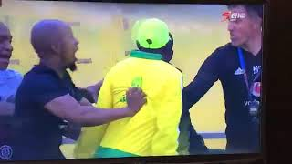 Mamelodi Sundowns vs Orlando Pirates first half brawls.10/11/2018