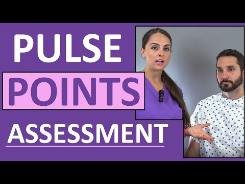 9 Pulse Points Assessment On The Body Nursing - Anatomy And Physiology