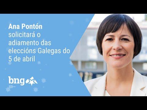 Ana Pontón solicitará o adiamento das eleccións Galegas do 5 de abril
