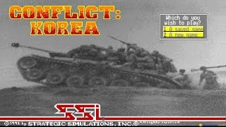 Conflict: Korea gameplay (PC Game, 1992)