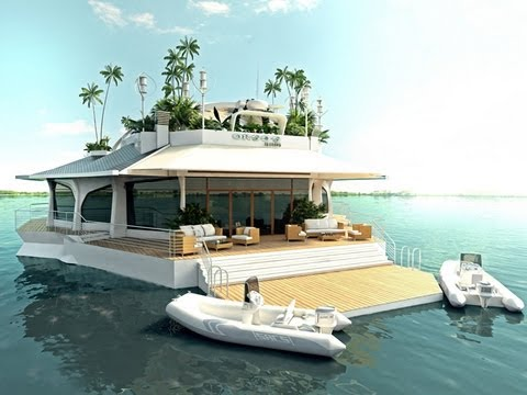 Floating private island for celebrities