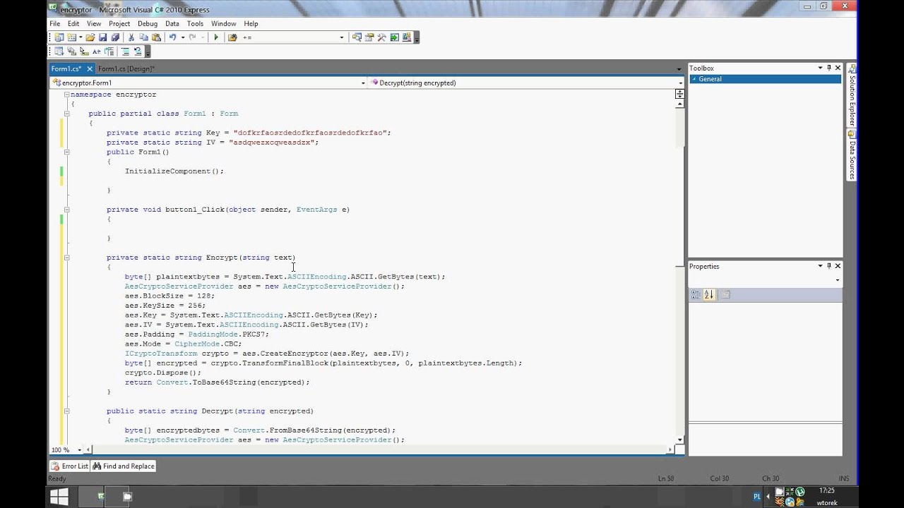 C# encrypting and decrypting using AES CBC, safe storing the encrypted data