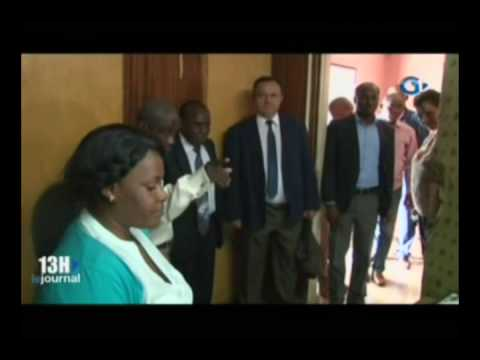 RTG - Visite de l'ambassadeur de la Russie au Gabon a la radio Mbire