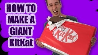 GIANT Kit Kat Recipe How To Cook That Ann Reardon make kitkat candy bar