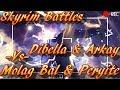 Skyrim Battles - Arkay & Dibella vs Molag Bal & Peryite [Legendary Settings]! :)