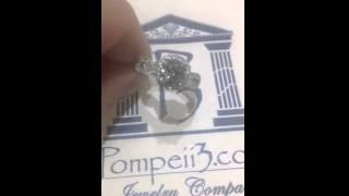 Pompeii3 2.25CT Diamond Infinity Halo Engagement Ring 14K White Gold
