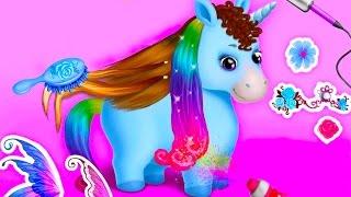 Салон Красоты для Маленьких Пони.Милые Сестрички Пони Уход и Наряды.Мультики для детей