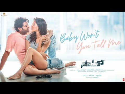 baby-won-t-you-tell-me-video-song-saaho-telugu-prabhas-shraddha-k-shweta-m-siddharth-m