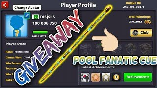 Give Away Pool fanatic cue acc + 12k ka group| | for more subscribe channel | | check description