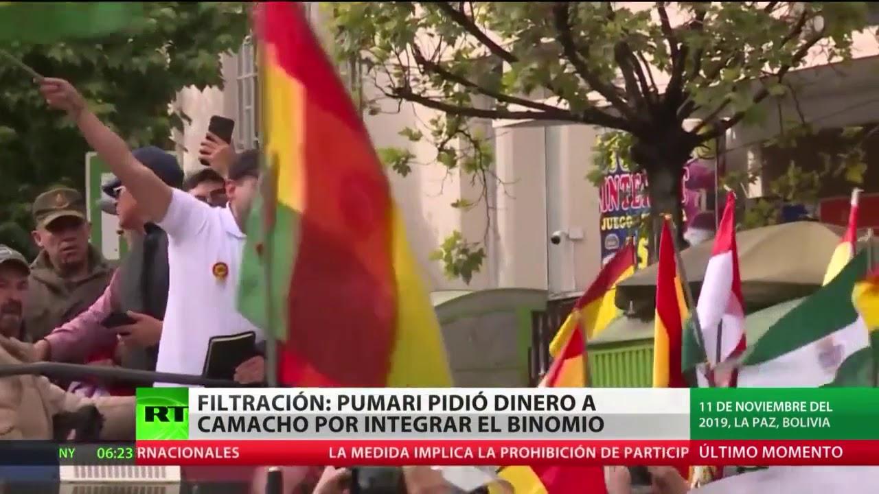 Bolivia: Difunden un audio en el que Pumari pide dinero a Camacho por integrar el binomio