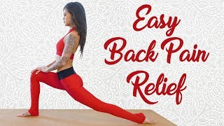 Relaxing Yoga Class for Back Pain with Julia Jarvis | Beginners Stretches for People Who Sit All Day