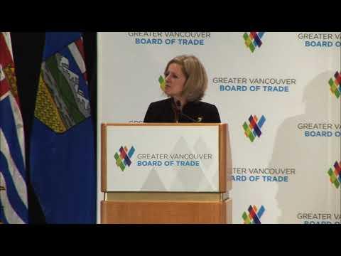 Rachel Notley Vancouver Board of Trade