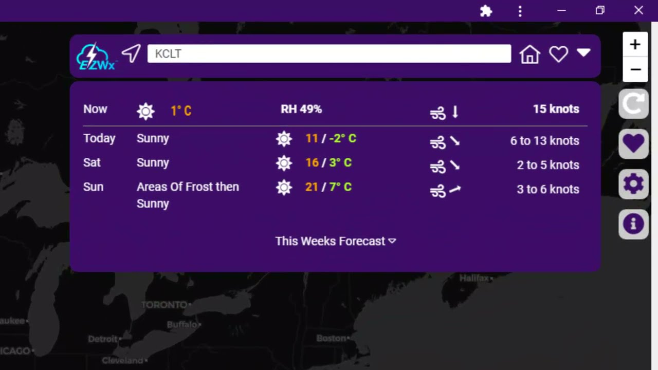 How to use the EZ7-Day Forecast in EZWxBrief