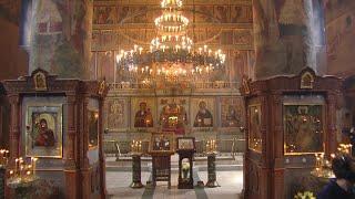 Божественная литургия 7 августа 2020 г., Сретенский мужской монастырь, г. Москва