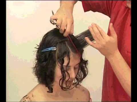 Corte carre en pelo con rulos