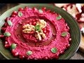 Beetroot Hummus Recipe - Homemade Appetizers - Heghineh Cooking Show