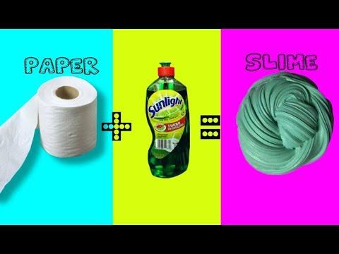 No Glue Paper Slime! Testing A No Glue Paper Slime Recipe !! Making Tissue Slime !!!