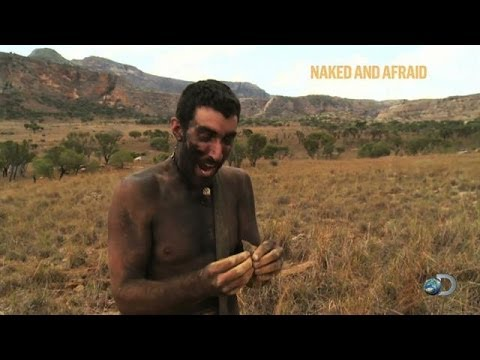 Survivalist Bites Off Lizard's Head | Naked and Afraid