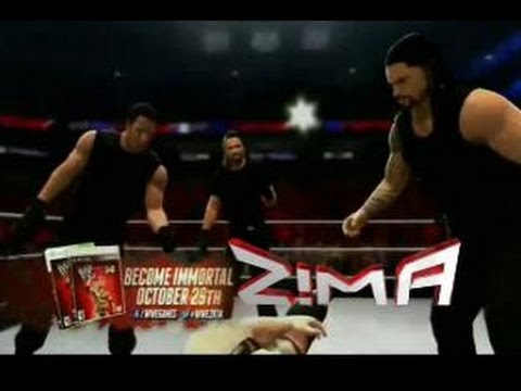 new wwe 2k14 gameplay goldberg entrance and the shield