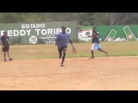 Dominican Players Fielding Ground Balls and Physical Conditioning in Dominican Republic