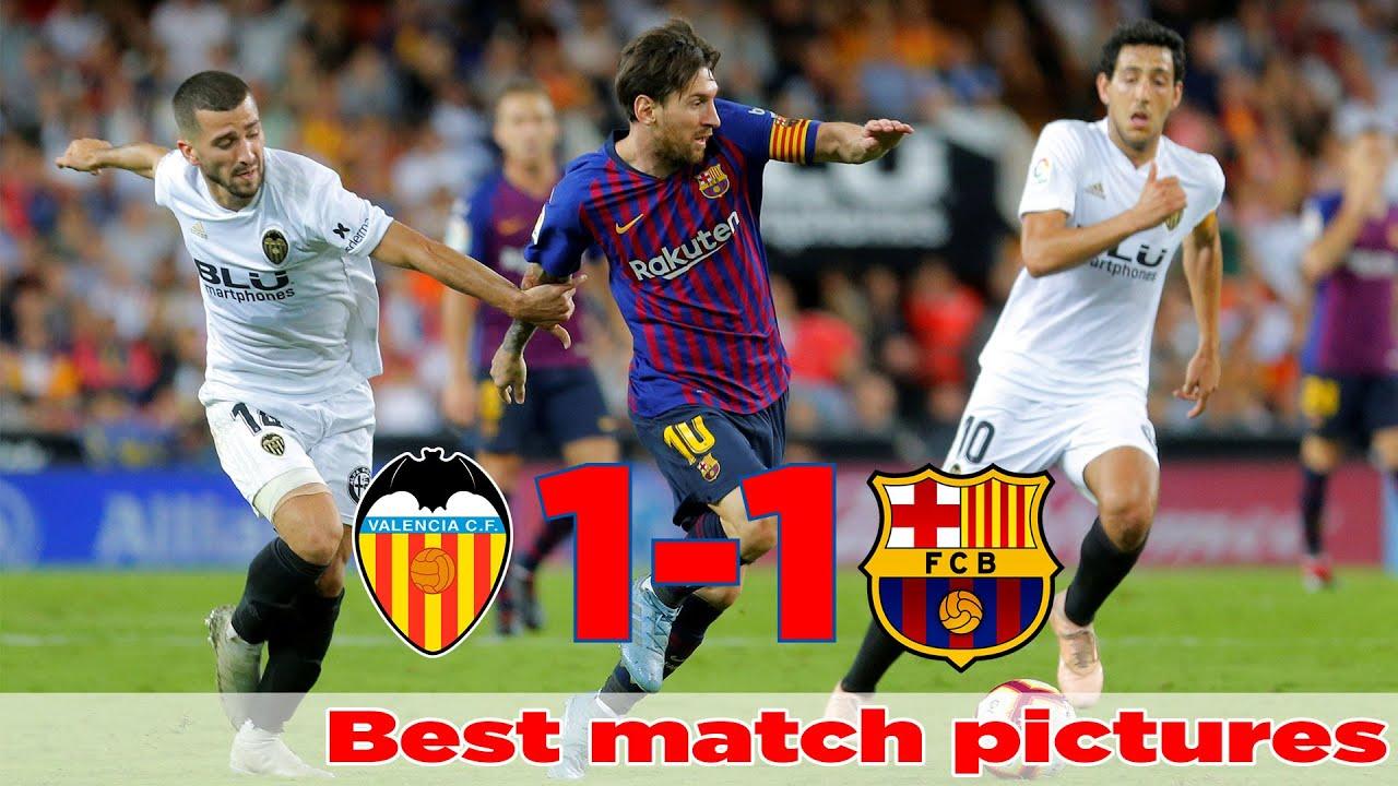 Valencia vs Barcelona 1-1, Best match pictures - Resumen Destacados La Liga 7/10/2018