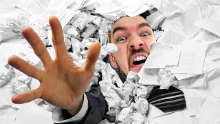 THE MAN MADE OF PAPER! | It's Paper Guy
