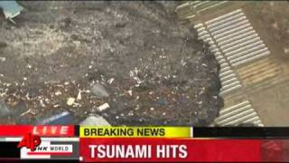 Raw Video- Tsunami slams northeast Japan 2011 warning pacific places.flv