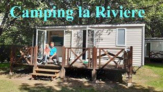 """""""Camping la Riviere"""" an der Dordogne in Frankreich - in einer Felsenstadt und in Lacave"""