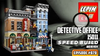 ATN #070 - LEPIN 15011 Detective Office SPEED BUILD & Review (Lego knockoff)
