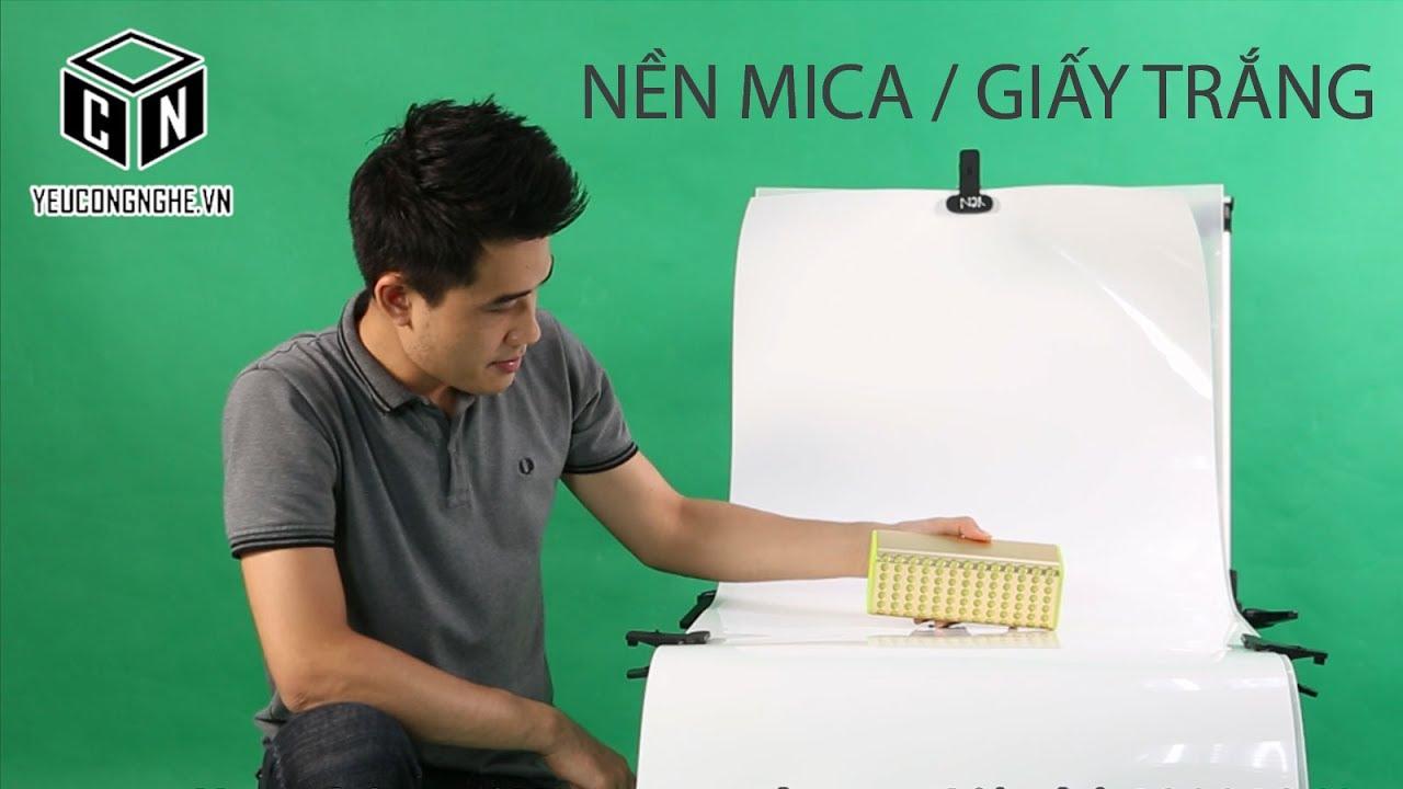 Background chụp ảnh sản phẩm mica, matte màu trắng 60x130cm