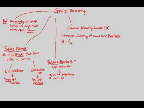 Community Ecology - Species Diversity