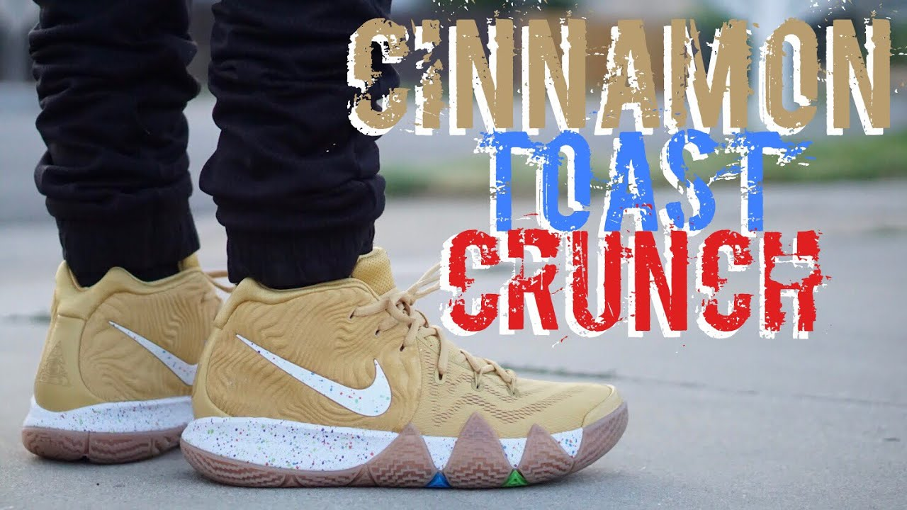 "sports shoes cf2ac 7c5e4 NIKE KYRIE 4 ""CINNAMON TOAST CRUNCH"" ON FEET REVIEW"