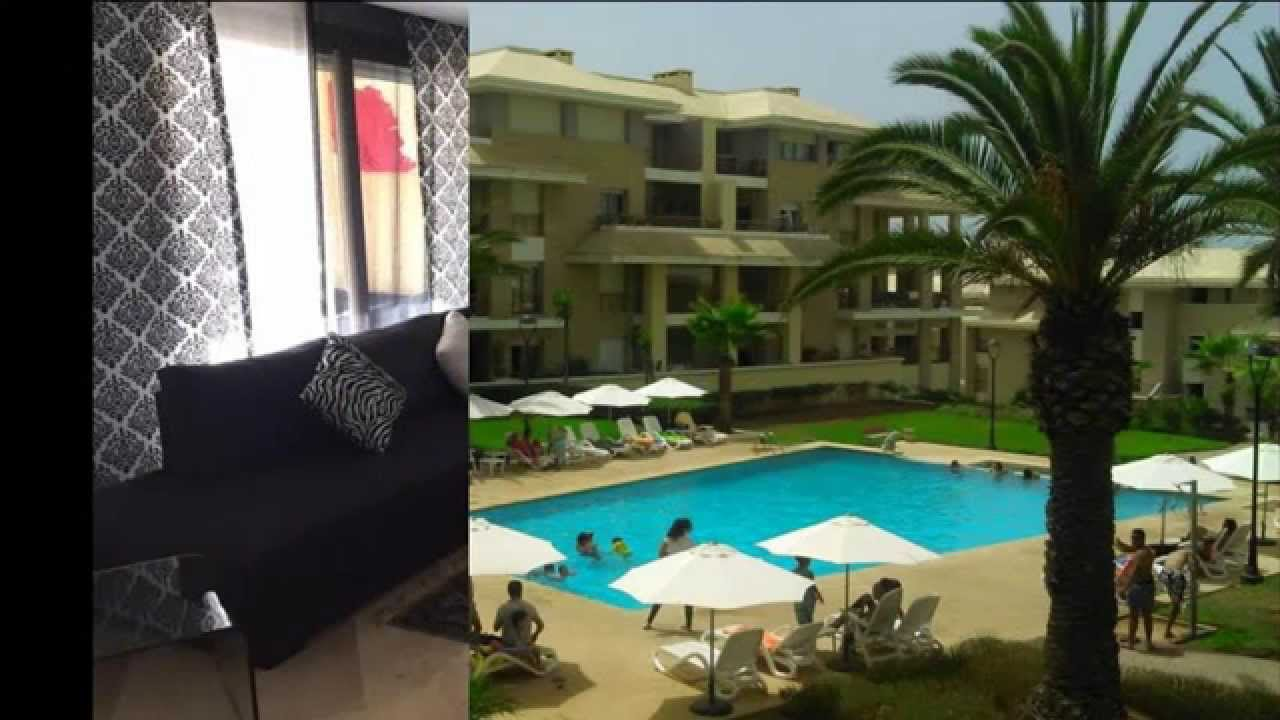 Plage des nations location meubl e youtube for Appart hotel kenitra