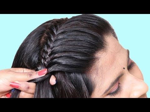 Simple & beautiful hairstyle | party hairstyle for girls | hair style girl | hairstyle tutorial thumbnail