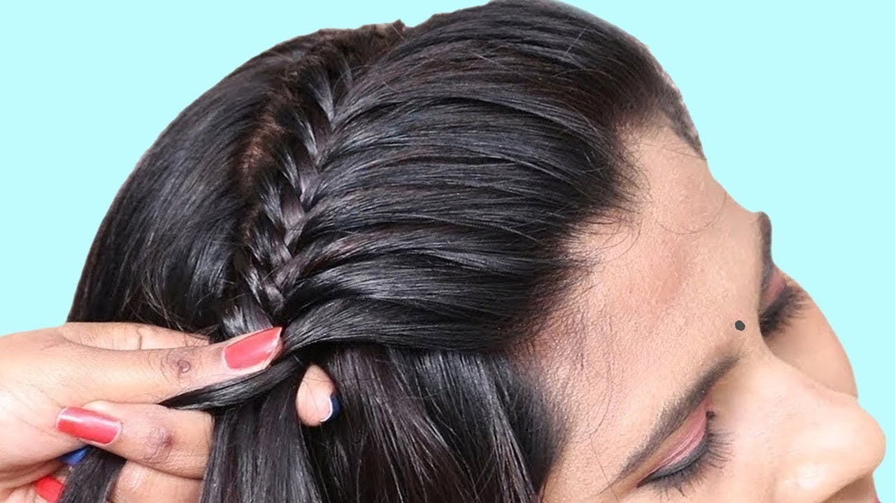 Simple & beautiful hairstyle   party hairstyle for girls   hair style girl    hairstyle tutorial