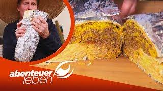 1,5 kg Hackfleisch, 1 kg Reis und viel Käse: XXL Käse Burrito   Abenteuer Leben   kabel eins