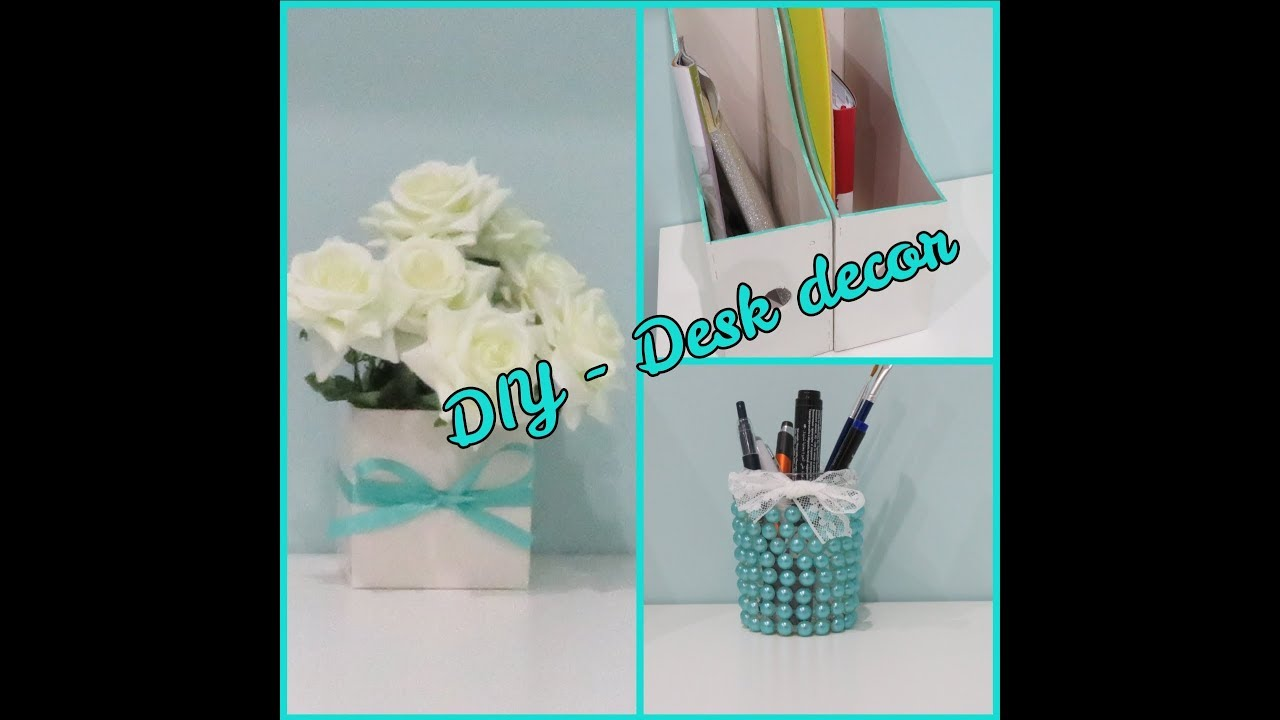 Decorazioni Fai Da Te Diy Desk Decor Decoriamo La Scrivania Tutorial Decorazioni Fai Da Te